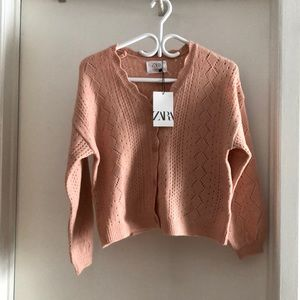 NWT Zara pink cardigan